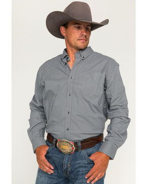 Cody James Men's Saddle Up Geo Print Long Sleeve Button Down Shirt, Grey, hi-res