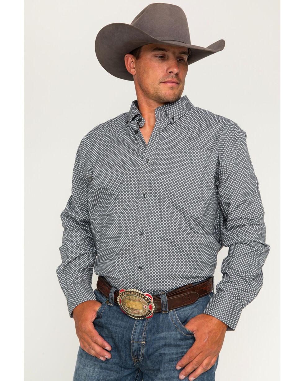 Cody James Men's Saddle Up Geo Print Long Sleeve Button Down Shirt, Grey, hi-res