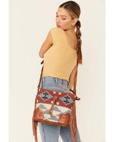 Shyanne Women's Odessa Serape Crossbody Bag, Lt Brown, hi-res