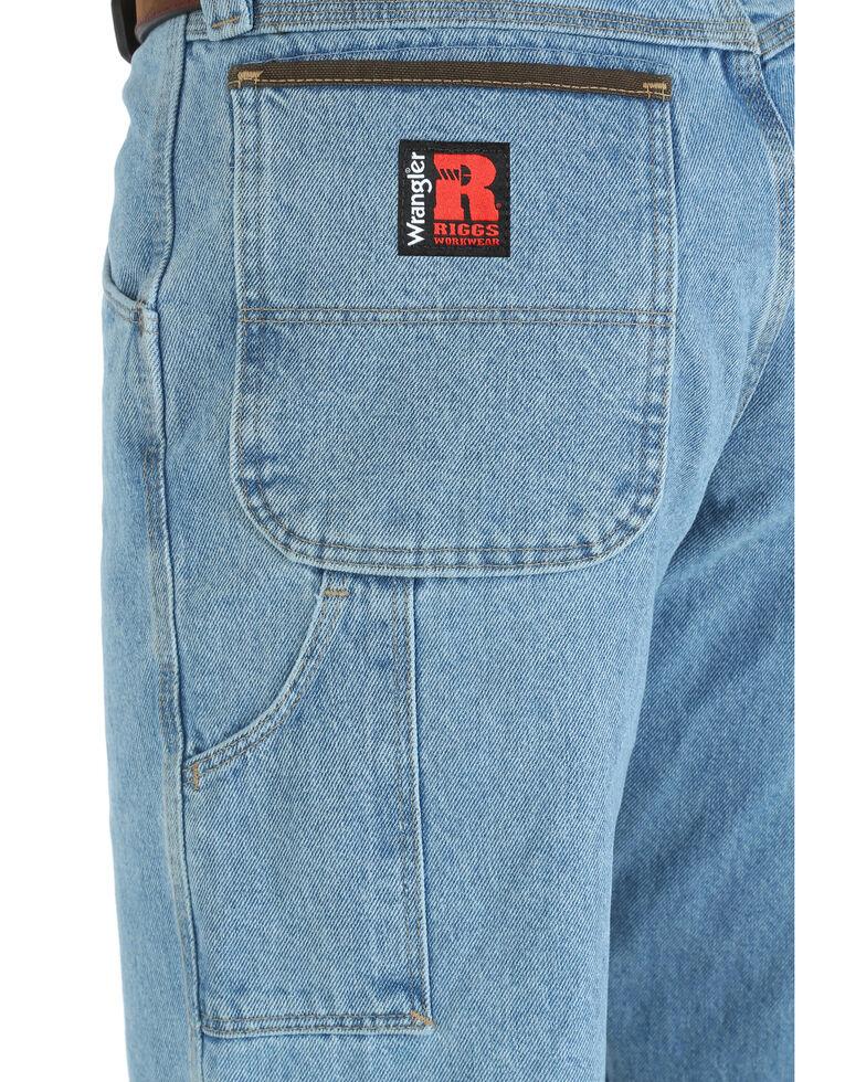 Wrangler Riggs Men's Relaxed Carpenter Work Jeans - Big , Indigo, hi-res