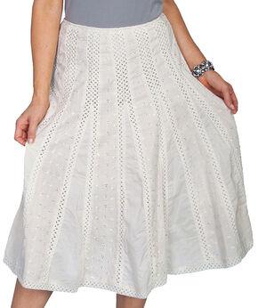 Scully Eyelet Skirt, Ivory, hi-res