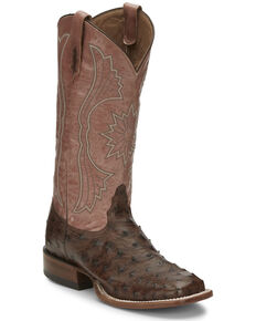 Tony Lama Women's Farron Kango Western Boots - Wide Square Toe, Brown, hi-res