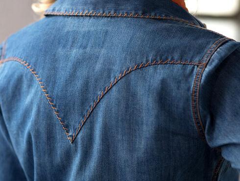 Ryan Michael Women's Whip-Stitch Denim Dress, Indigo, hi-res