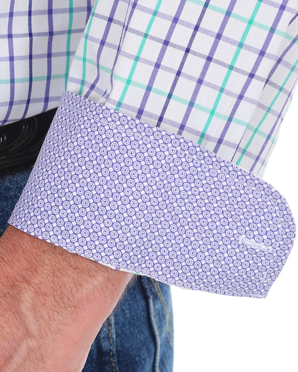 George Strait by Wrangler Men's Purple Small Plaid Long Sleeve Western Shirt , Purple, hi-res