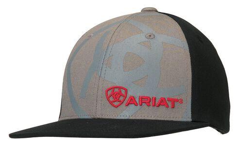 Ariat Boys' Logo Embroidery & Screen Print Cap, Grey, hi-res