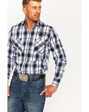 Ely Cattleman Men's Jack Daniel's Plaid Shirt , Black, hi-res