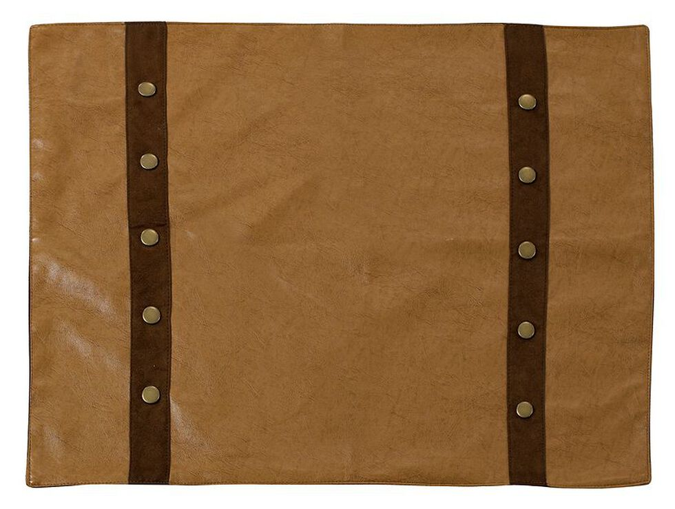 Tan Faux Leather Placemats, Tan, hi-res