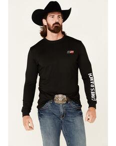 Kimes Ranch Men's Black KR2 Performance Logo Long Sleeve T-Shirt , Black, hi-res