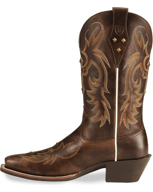 Ariat Legend Spirit Cross Cowgirl Boots - Square Toe, Brown, hi-res