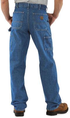 Carhartt Signature Denim Work Dungaree Jeans, Dark Stone, hi-res