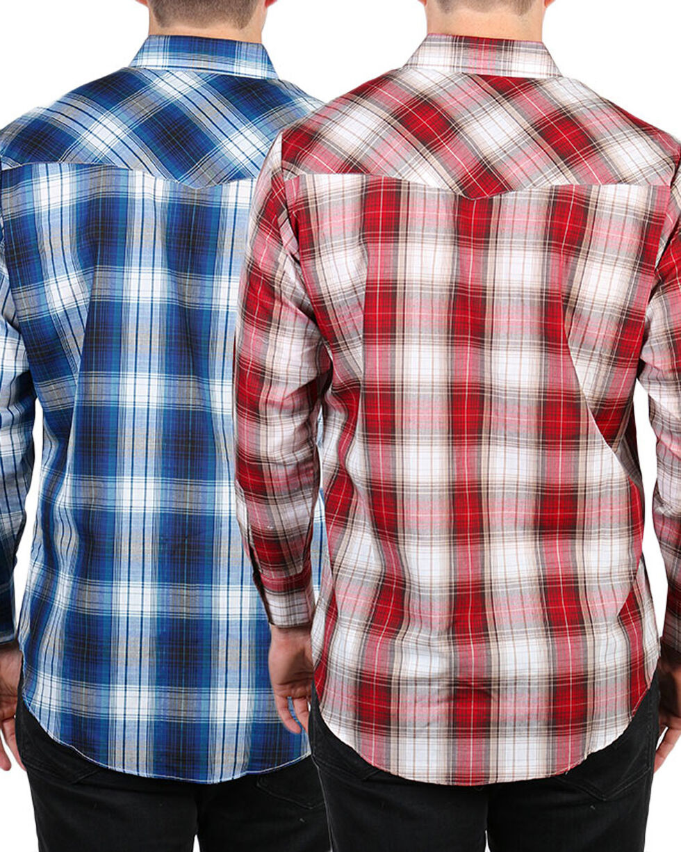 Ely Cattleman Men's Assorted Textured Plaid Shirt, Multi, hi-res