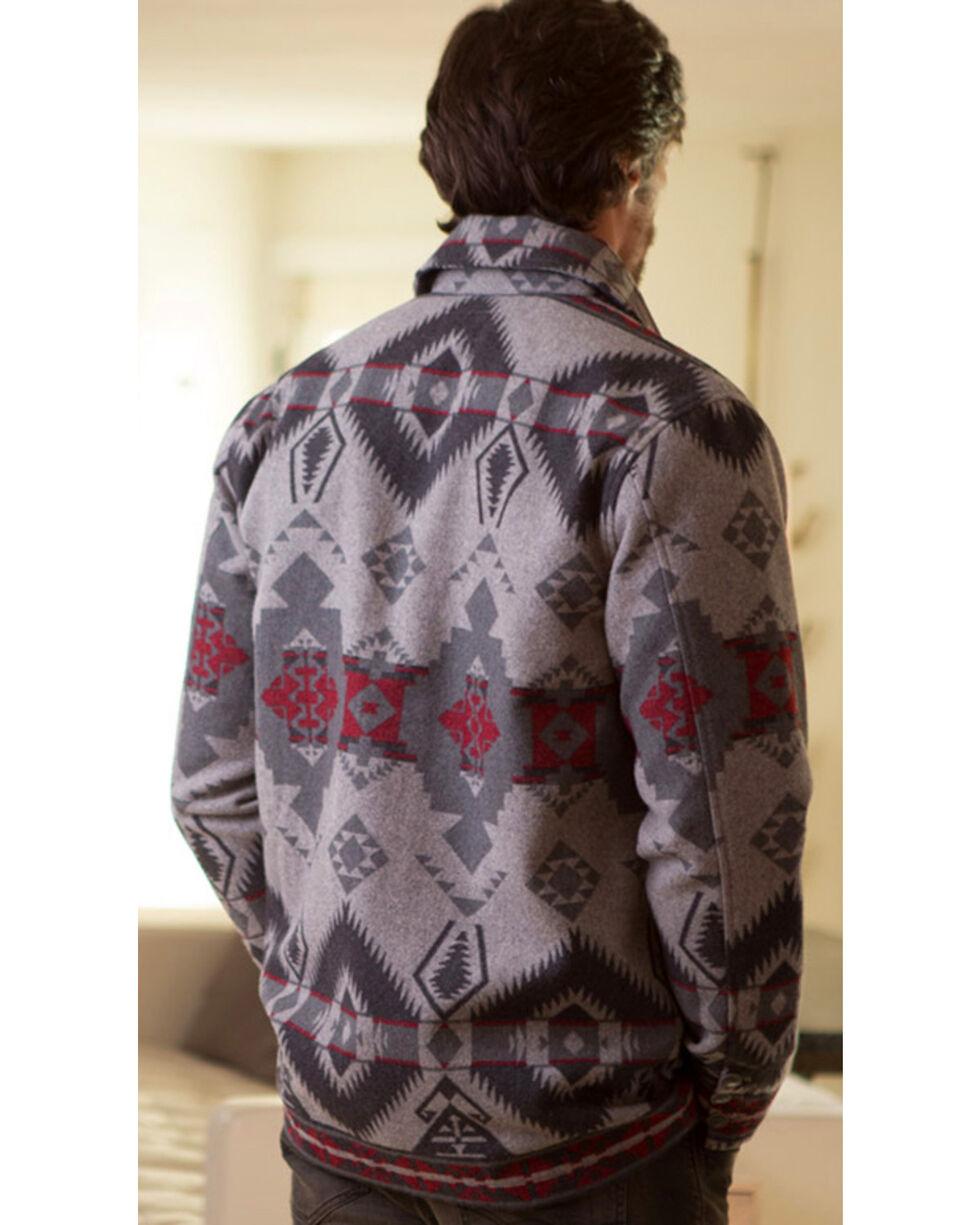 Ryan Michael Men's Grey Wool Blanket Jacket , Grey, hi-res