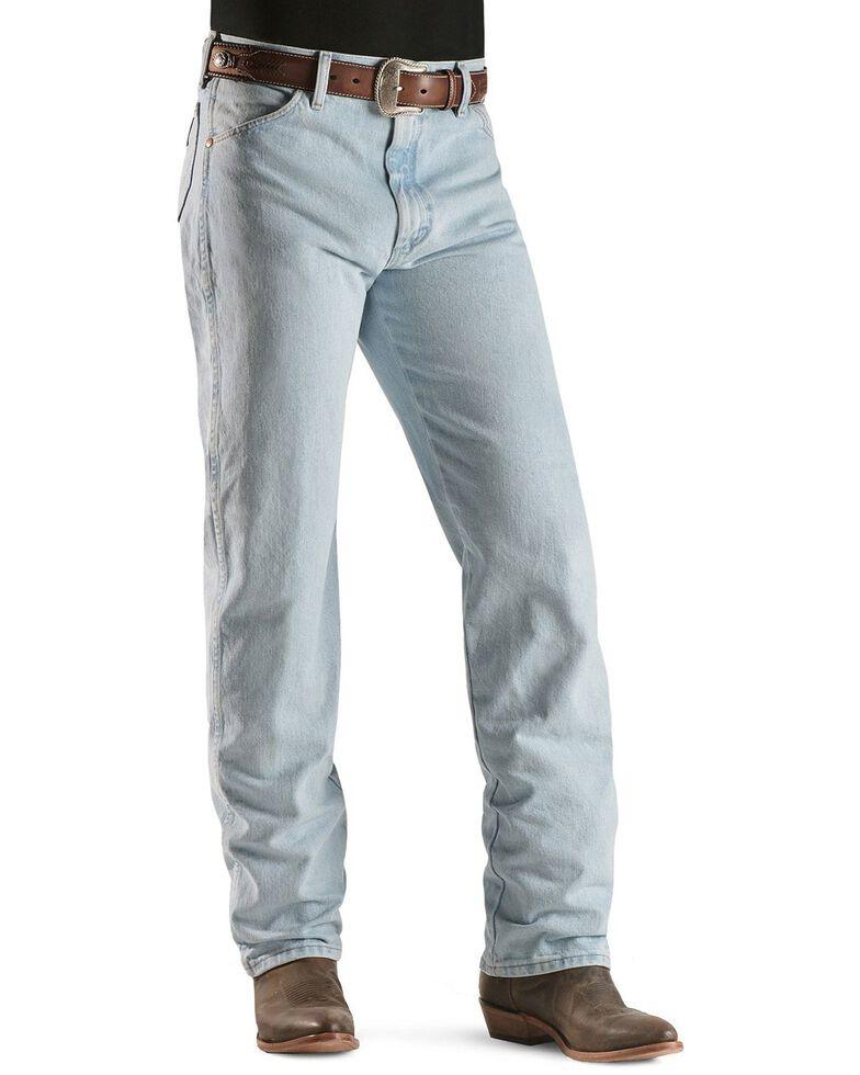 "Wrangler 13MWZ Cowboy Cut Original Fit Prewashed Jeans - 38"" & 40"" Inseams, Bleach Indigo, hi-res"