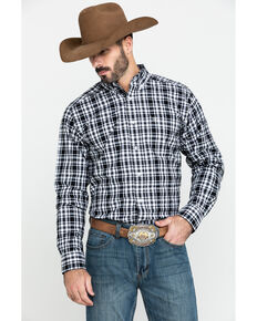 Ariat Men's Oildale Med Plaid Fitted Long Sleeve Western Shirt , Multi, hi-res