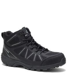 Wolverine Men's Amherst II Work Shoes - Composite Toe, Black, hi-res