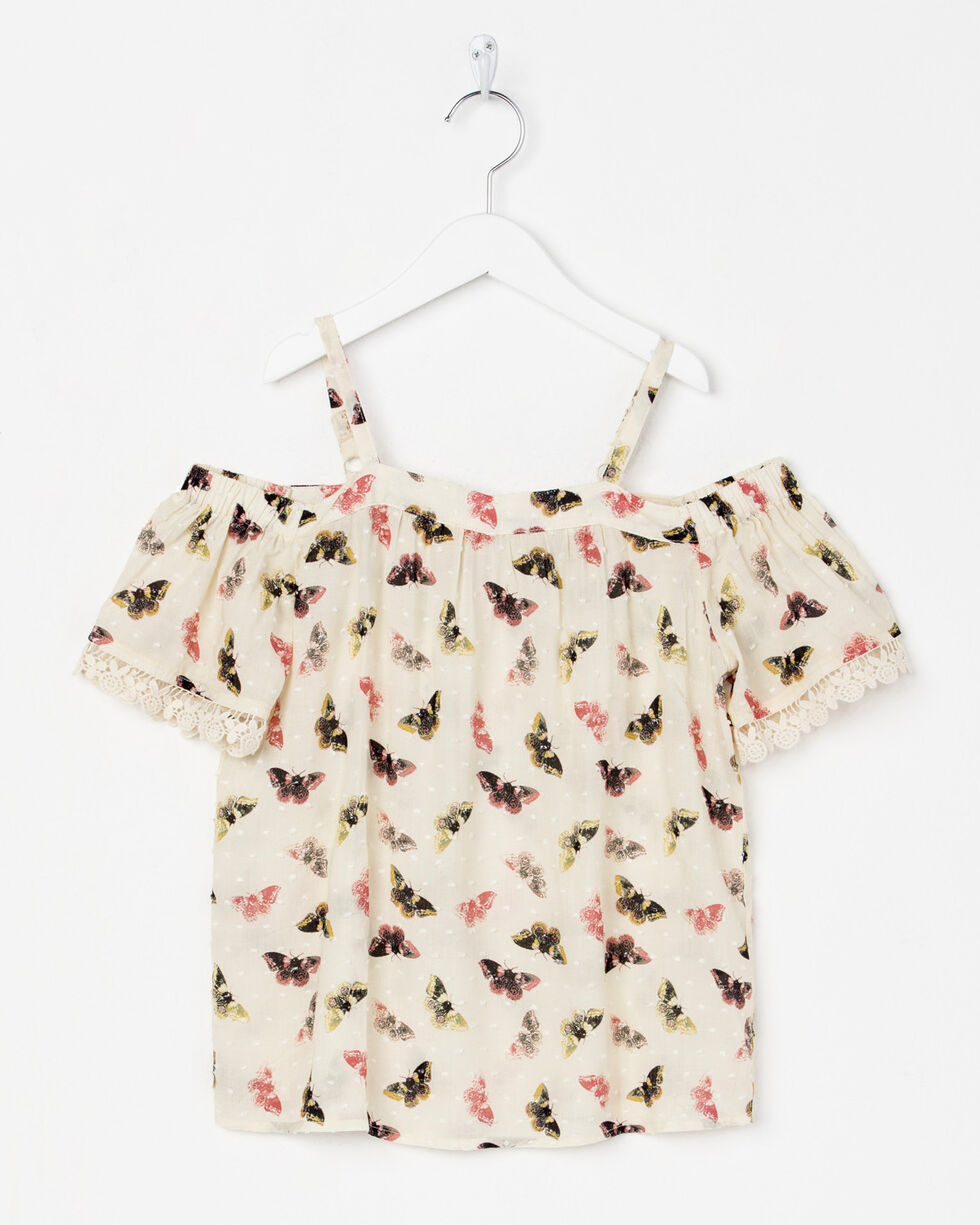 Miss Me Girls' Flutter and Fly Top , Cream, hi-res