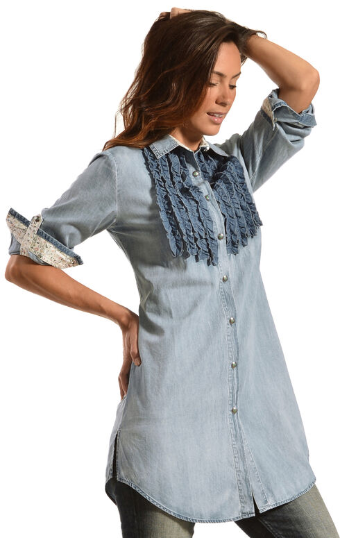 Tasha Polizzi Women's Settler Tunic, Denim, hi-res