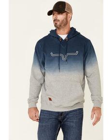 Kimes Ranch Men's Navy Layton Dip Dye Hooded Sweatshirt , Navy, hi-res