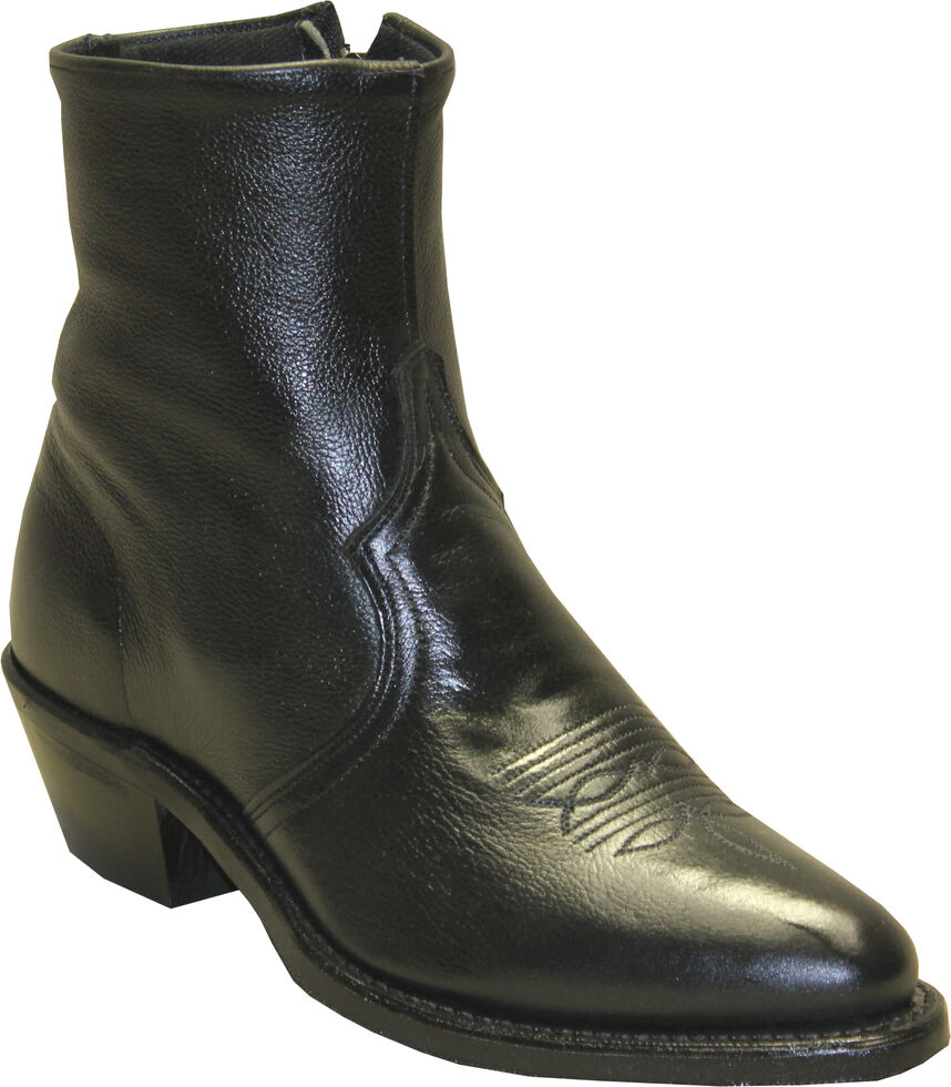 Sage by Abilene Boots Men's Zipper Short Boots - Medium Toe, Black, hi-res
