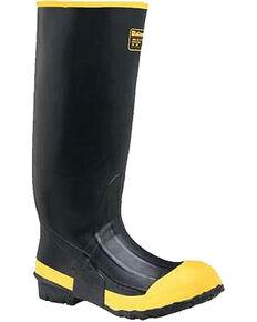 LaCrosse Men's Premium Knee Work Boots - Steel Toe , Black, hi-res