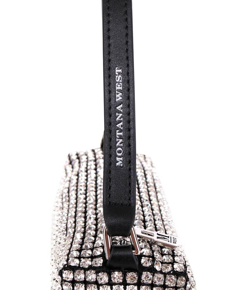 Montana West Women's Leather Bling Shoulder Bag, Black, hi-res