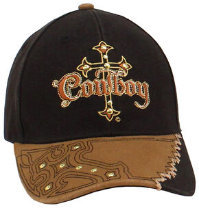 Twister Men's Cowboy Cross Cap, Black, hi-res