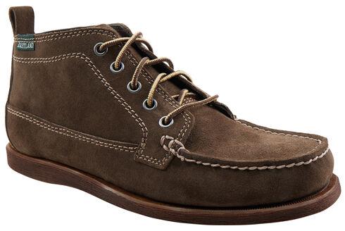 Eastland Men's Dark Olive Suede Seneca Camp Moc Chukka Boot , Brown, hi-res
