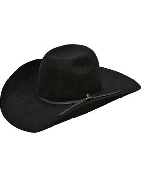 Ariat Men's 100% Fur 6X Cowboy Hat , Black, hi-res
