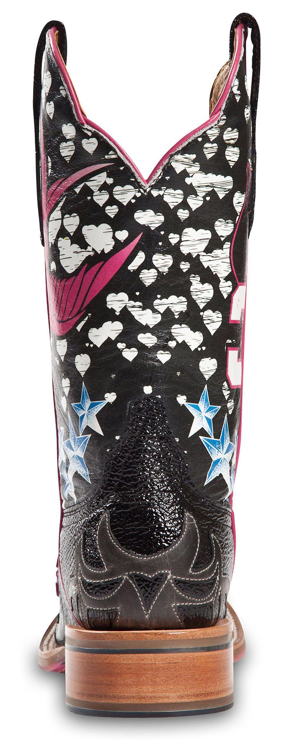 Cinch Edge Stella Cowgirl Boots - Square Toe, Black, hi-res
