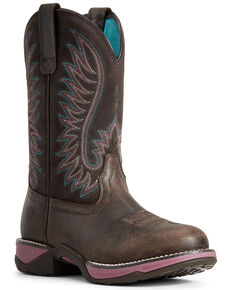 Ariat Women's Acorn Anthem Western Boots - Round Toe, Brown, hi-res