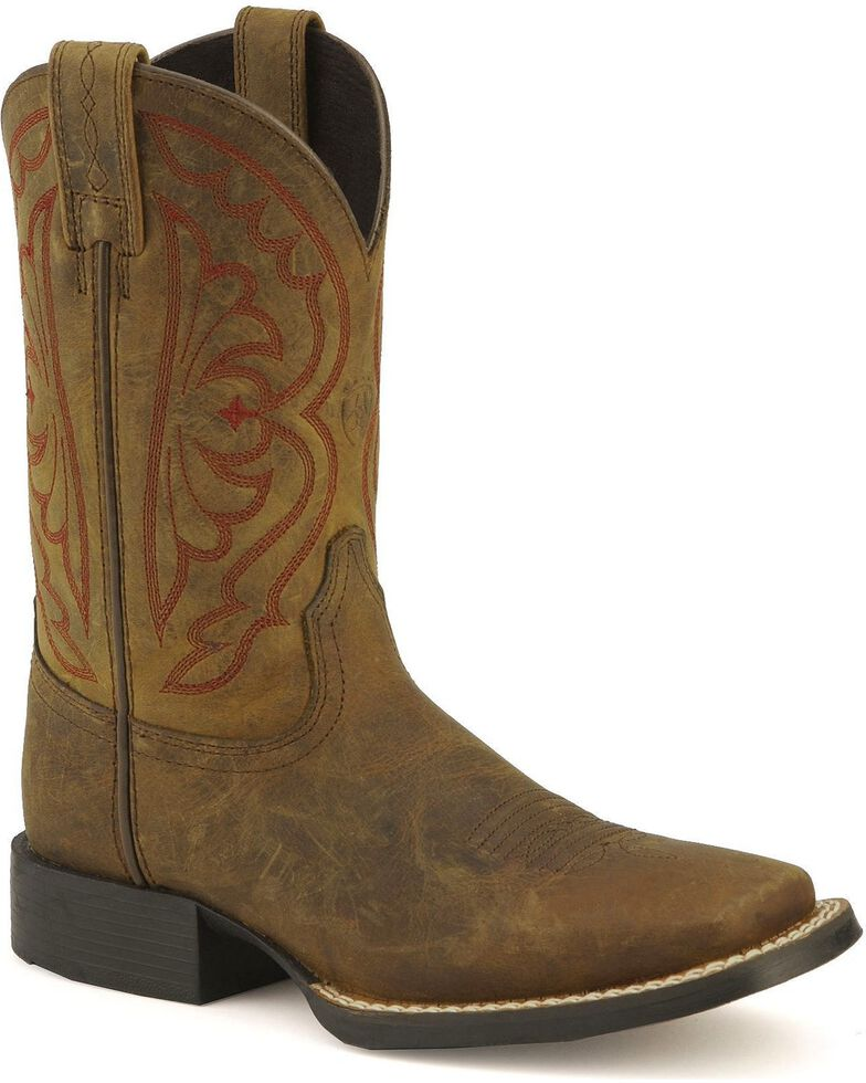 2d26e20d9a0 Ariat Youth Quickdraw Cowboy Boots - Square Toe