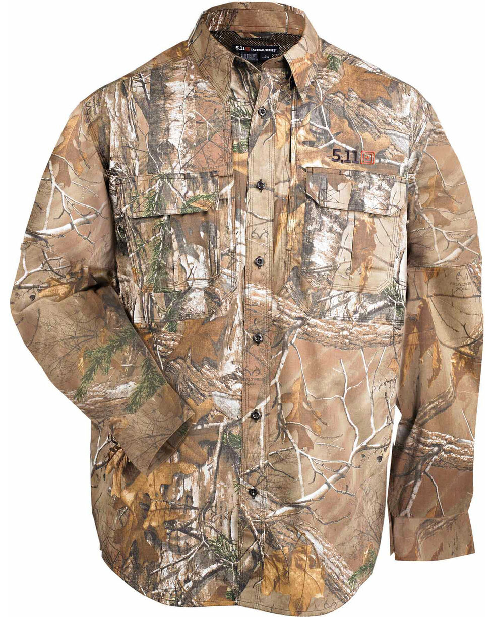 5.11 Tactical Realtree Xtra Taclite Pro Long Sleeve Shirt, Camouflage, hi-res