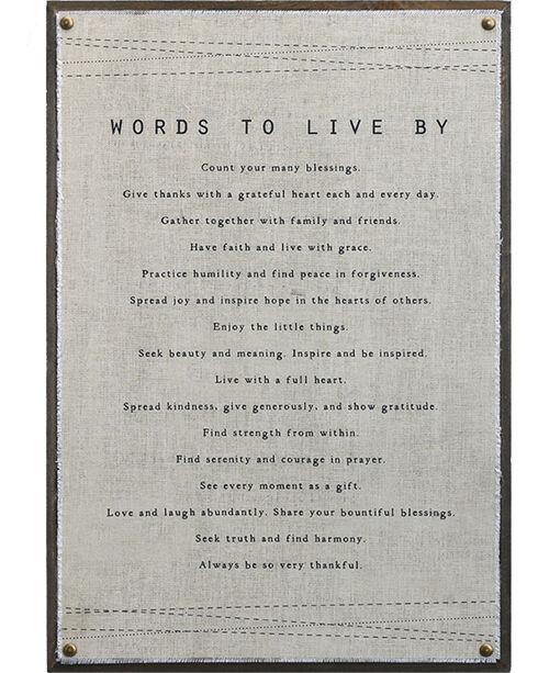 Demdaco Words To Live By Wall Art , Beige/khaki, hi-res