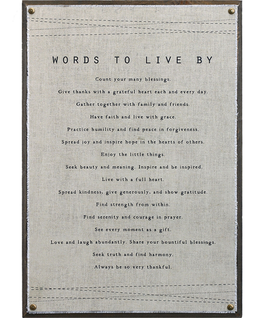 Demdaco Words To Live By Wall Art , Beige/khaki, hi-res