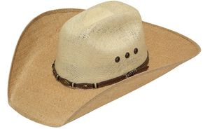 Twister 8X Jute Concho Hat Band Straw Cowboy Hat, Tan, hi-res