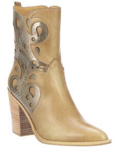 Lucchese Women's Twyla Fashion Booties - Medium Toe, Tan, hi-res