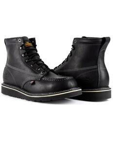 Thorogood Men's American Heritage Work Boots - Soft Toe, Black, hi-res