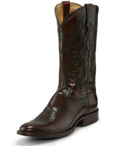 Tony Lama Men's Patron Sangria Western Boots - Round Toe, Brown, hi-res
