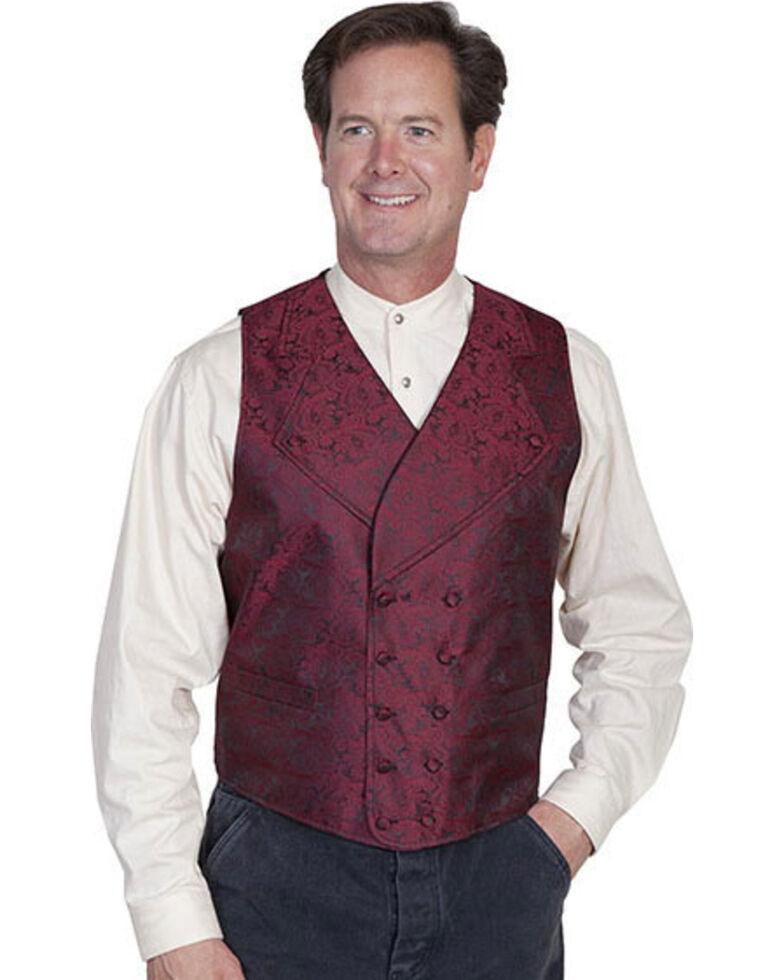 Rangewear by Scully Wide Notched Lapel Vest - Big Sizes (3XL - 4XL), Burgundy, hi-res