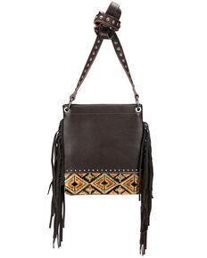 Montana West Women's Embossed Aztec Crossbody Bag, Coffee, hi-res