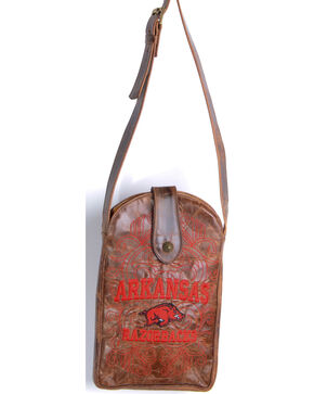 Gameday Boots University of Arkansas Crossbody Bag, Brass, hi-res