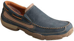 Twisted X Men's Soft Blue Driving Mocs, Blue, hi-res