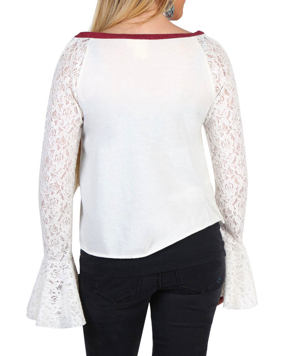 White Crow Women's Lace Long Sleeve Top, Ivory, hi-res