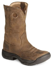 Twisted X Men's Distressed All Around Barn Boots - Round Toe, Distressed, hi-res