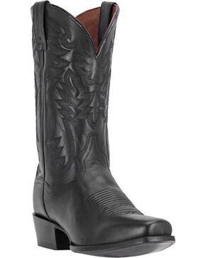 Dan Post Men's Centennial Black Western Boots - Square Toe, Black, hi-res