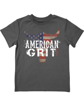 Farm Boy Toddler Boys' American Grit Tee, Grey, hi-res