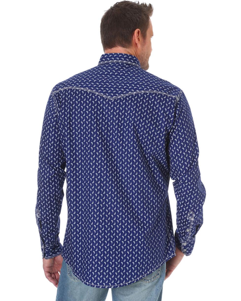 Wrangler Men's Navy 20X Competition Advanced Comfort Print Shirt - Tall, Navy, hi-res