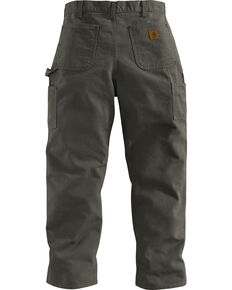 Carhartt Double Front Work Dungaree Pants, Moss, hi-res