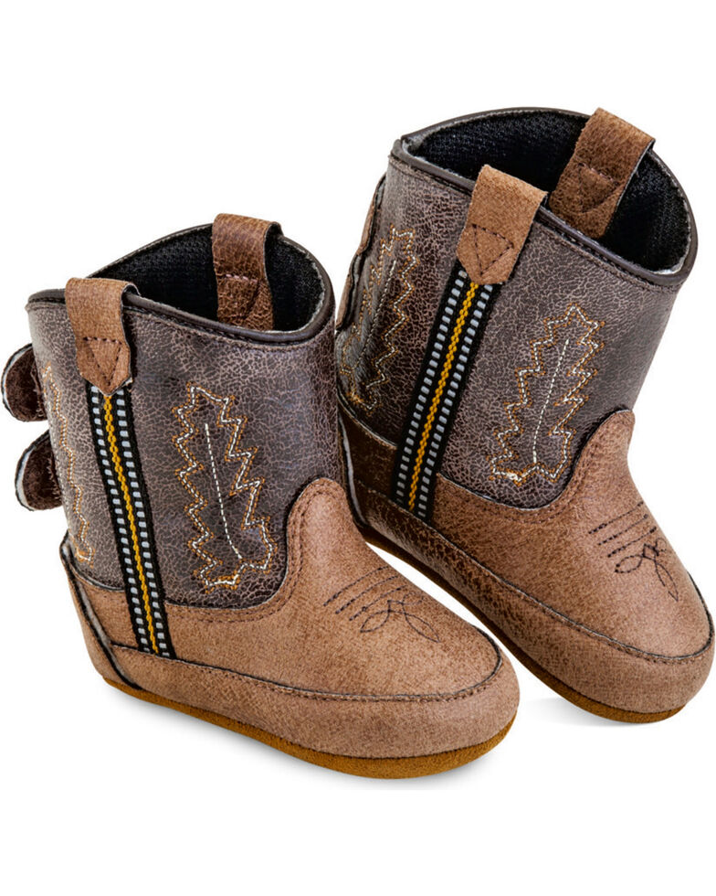 Old West Infant Boys' Brown Poppet Boots - Round Toe , Tan, hi-res