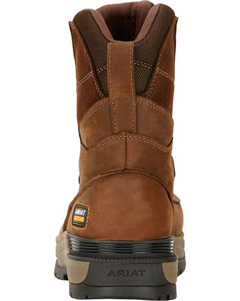 "Ariat Mastergrip 8"" H2O Work Boots - Soft Toe , Brown, hi-res"